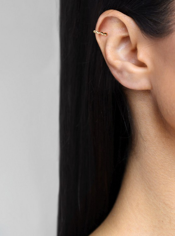 Arete Ear Cuff Twisted Do...